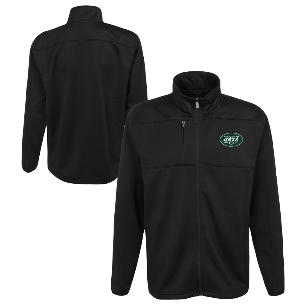 NEW YORK JETS Boys' Superior Bonded Fleece Full-Zip Jacket - BLACK
