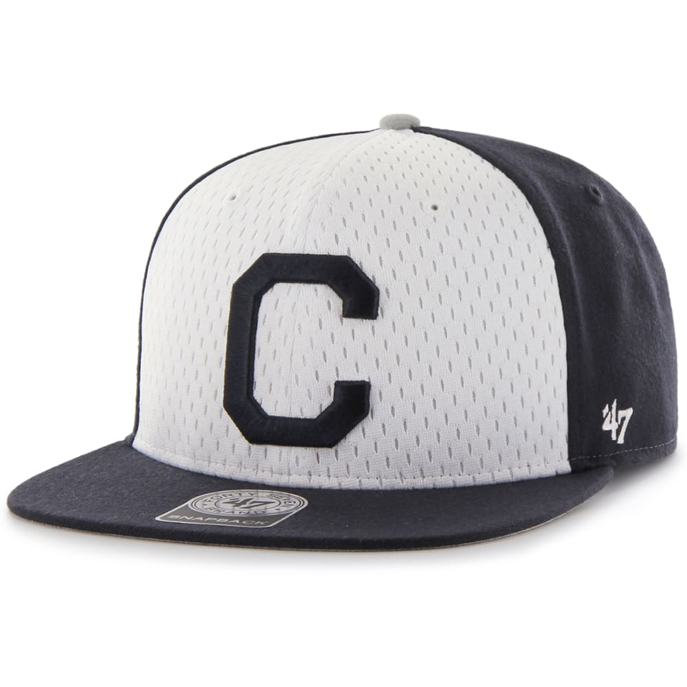 UCONN Men's Backboard '47 Captain C Logo Snapback Cap - NAVY
