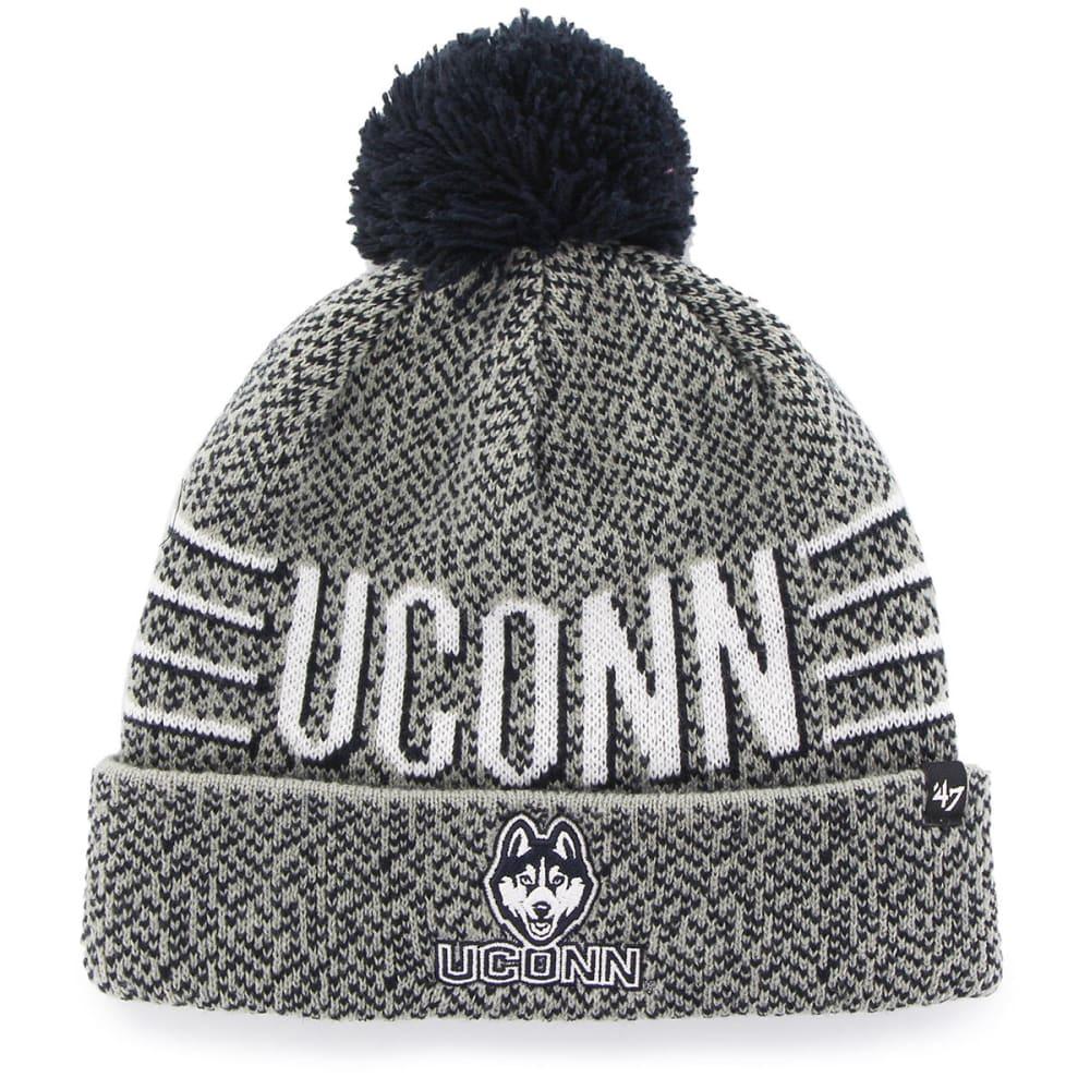 UCONN Men's '47 Mezzo Cuff Knit Pom Beanie - GREY