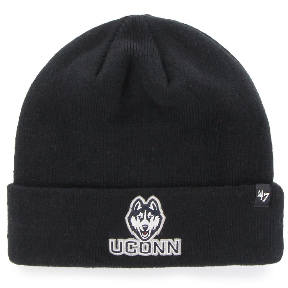 Uconn Men's '47 Recluse Cuff Knit Beanie - Black, ONESIZE