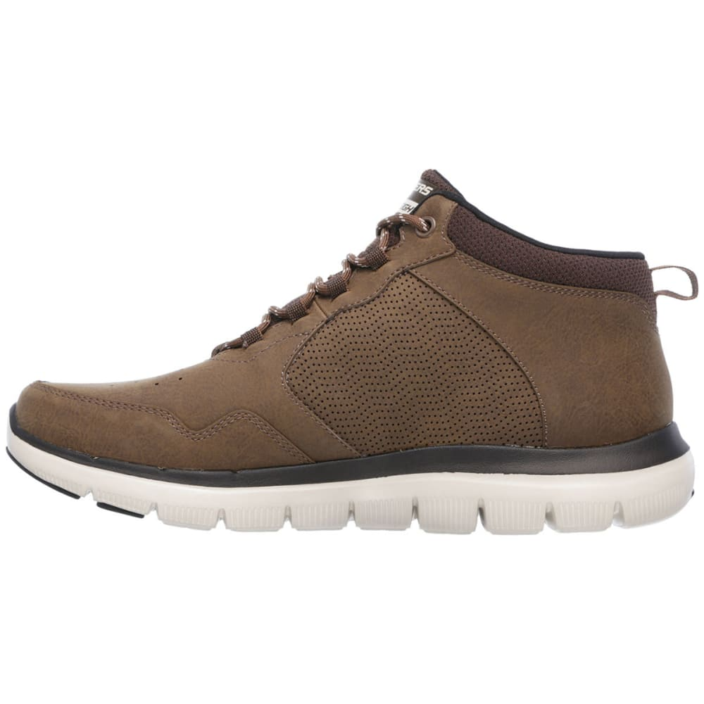 SKECHERS Men's Flex Advantage 2.0 - High-Key Sneakers, Chocolate - CHOCOLATE