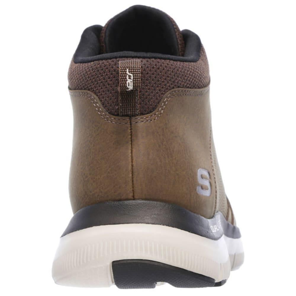 SKECHERS Men's Flex Advantage 2.0 - High-Key Sneakers, Chocolate - CHOCOLATE