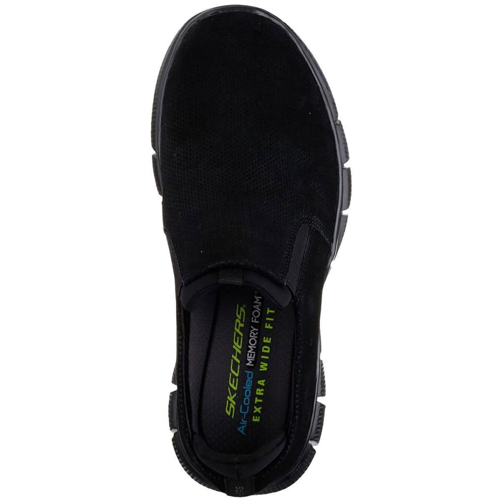 SKECHERS Men's Equalizer 2.0 – Lodini Slip-On Casual Shoes Wide, Black - BLACK