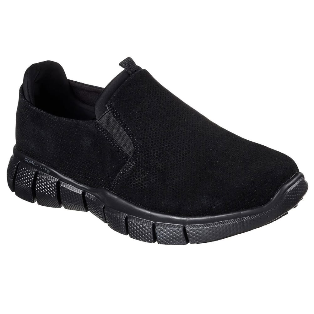 SKECHERS Men's Equalizer 2.0 – Lodini Slip-On Casual Shoes Wide, Black - BLACK