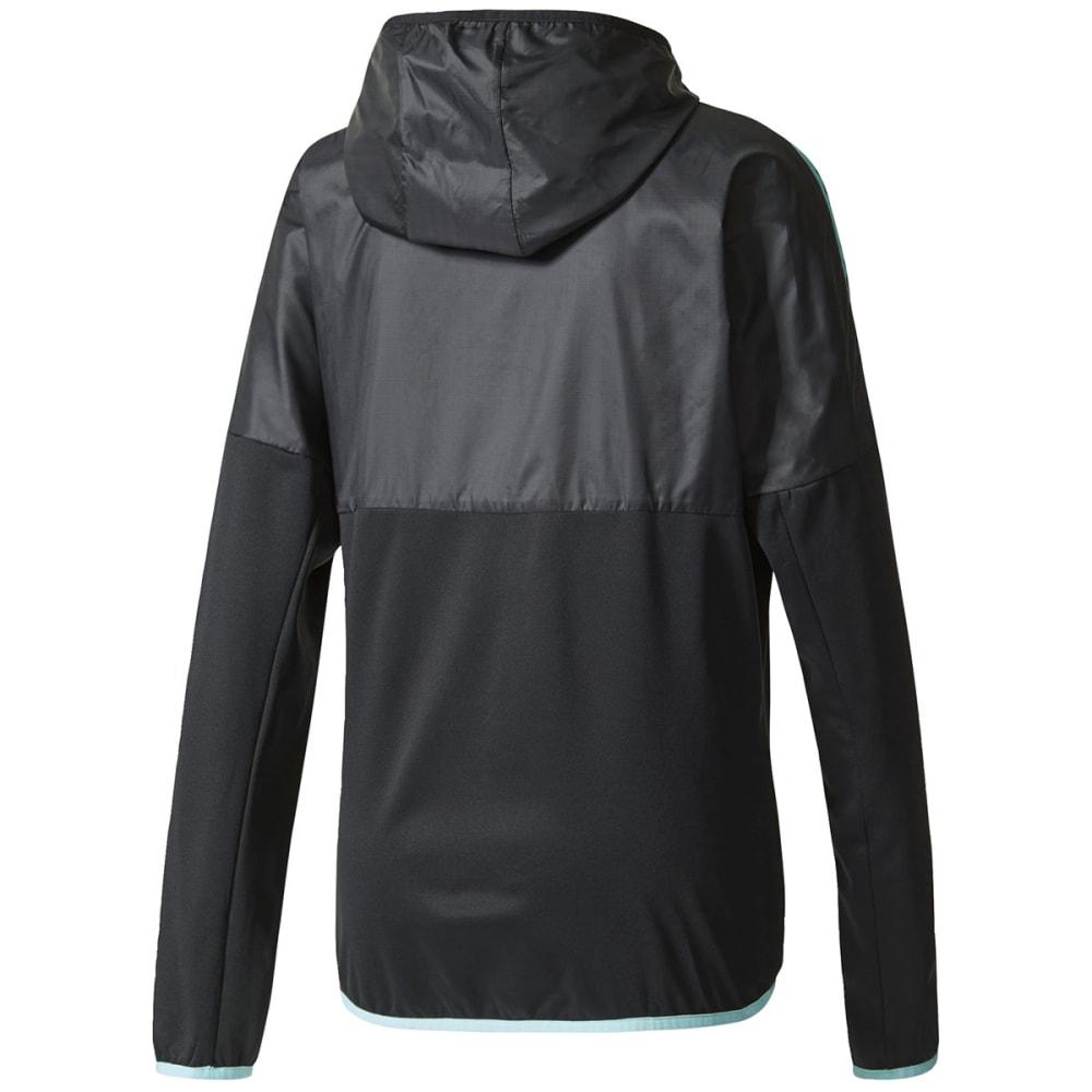 ADIDAS Women's Tango Future Hybrid Soccer Jacket - BLK/AQUA-BQ9211