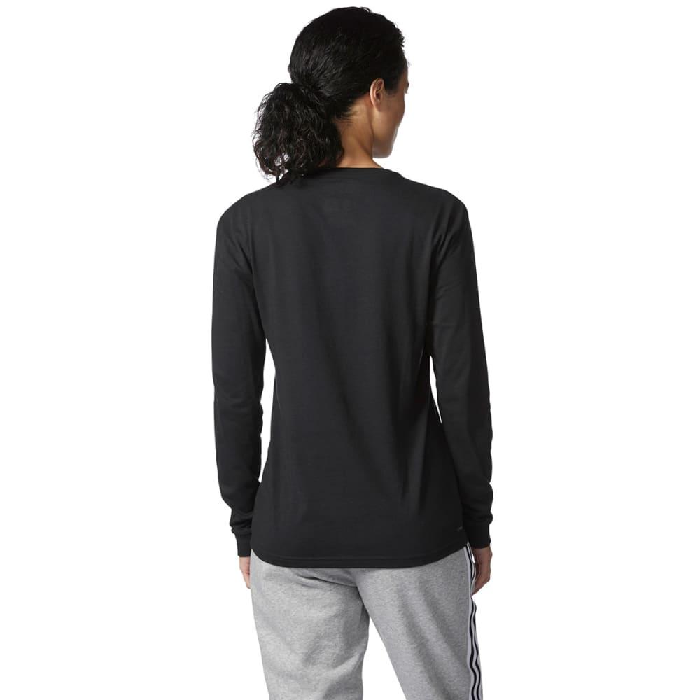 ADIDAS Women's Badge of Sport Long-Sleeve Tee - BLACK/WHITE-CD4604