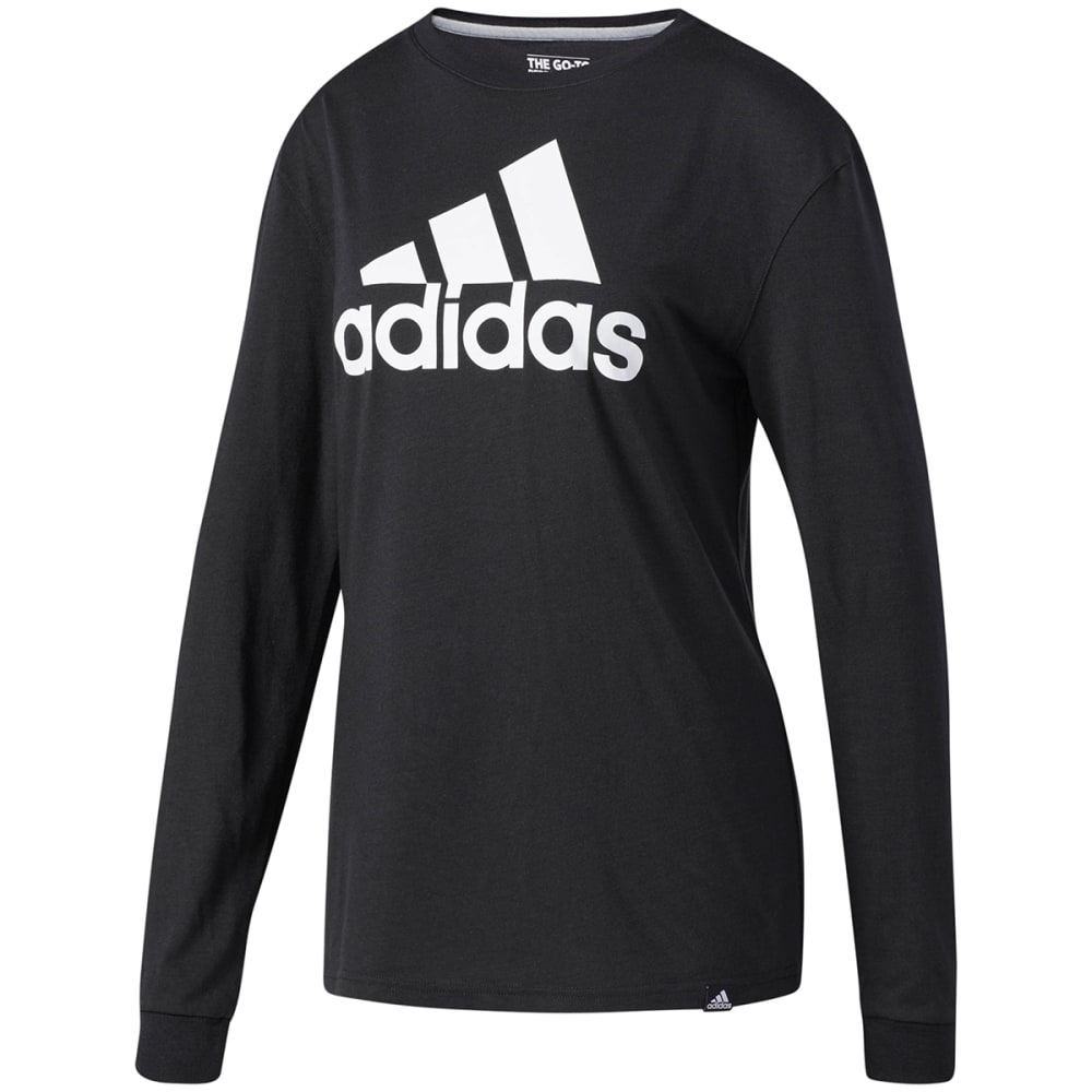 Adidas Women's Badge Of Sport Long-Sleeve Tee - Black, S