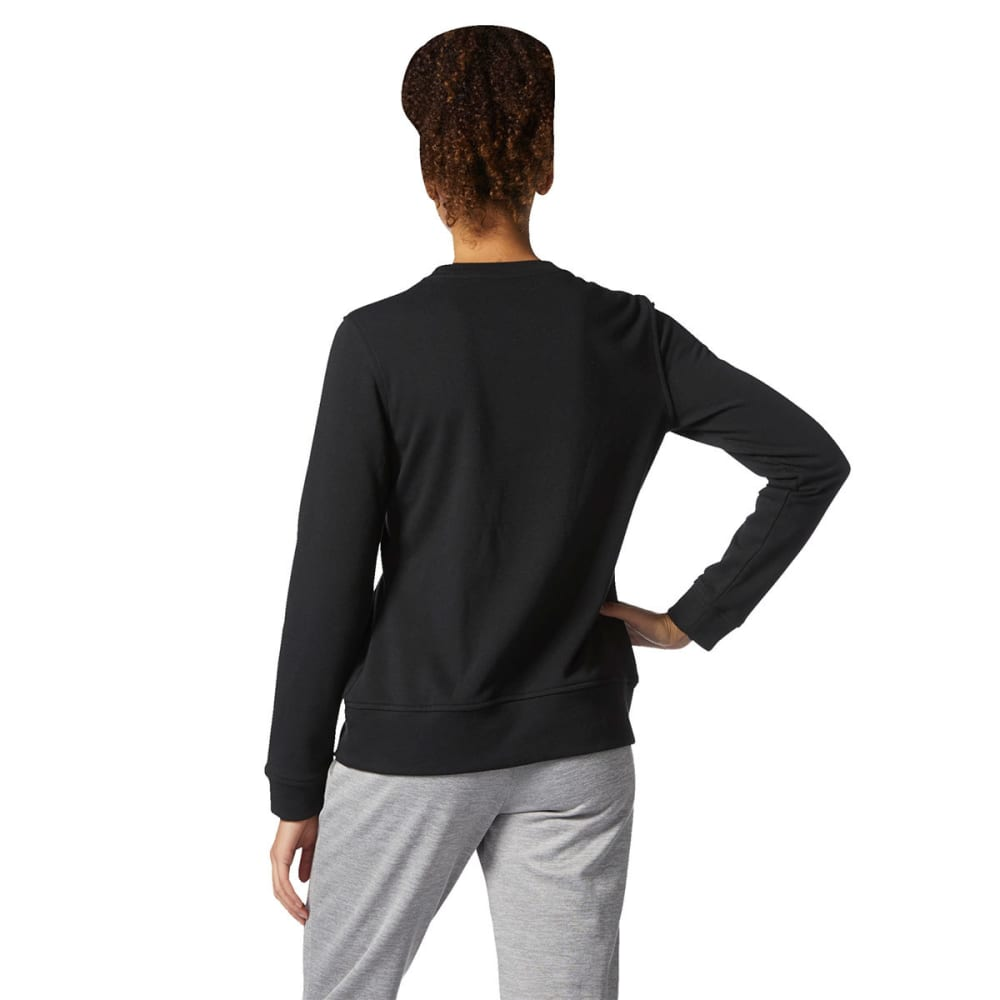 ADIDAS Women's Badge of Sport Iridescent Fleece Crew - BLK/MTLLC GLD-CG0939