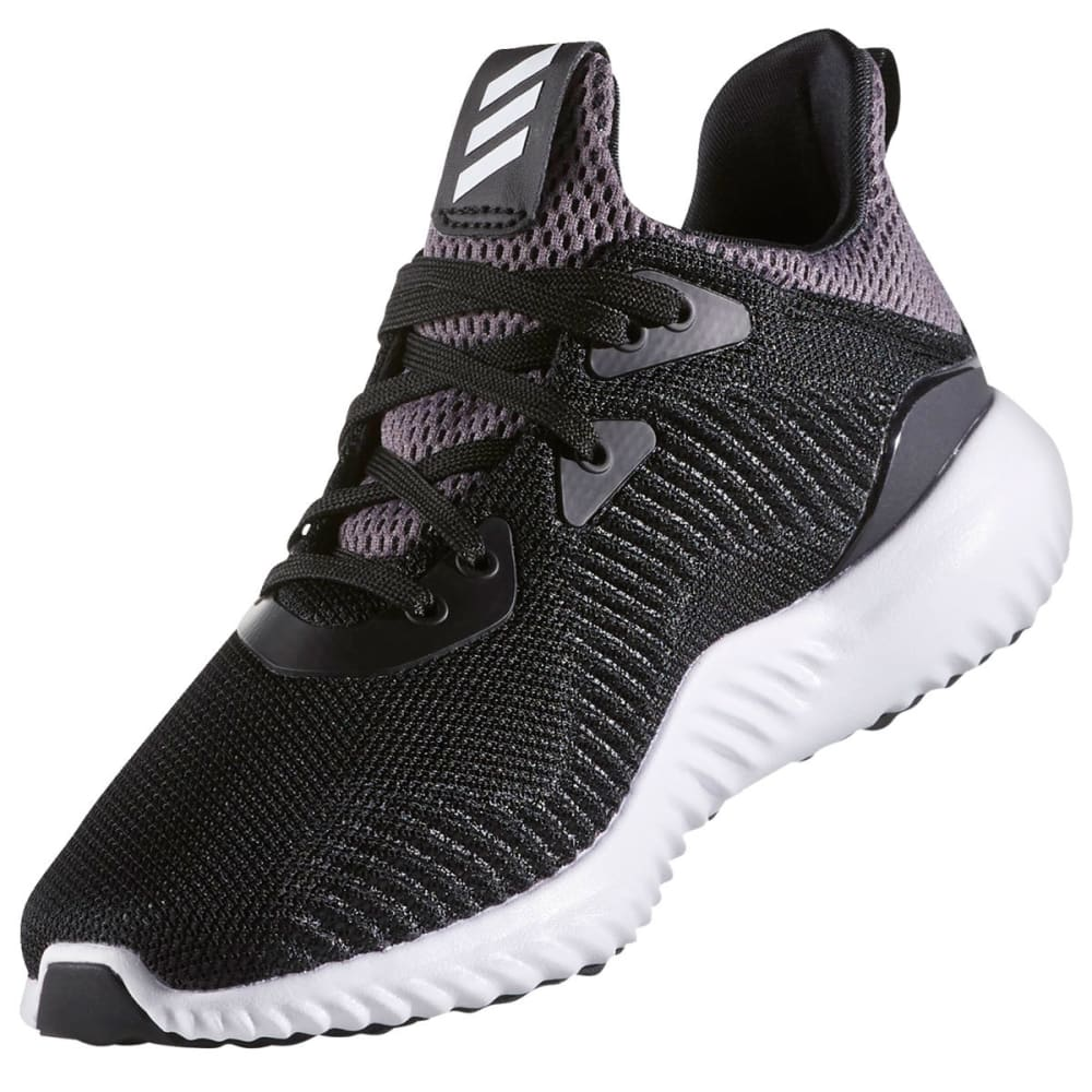 ADIDAS Boys' Alphabounce Running Shoes, Black/White - BLACK