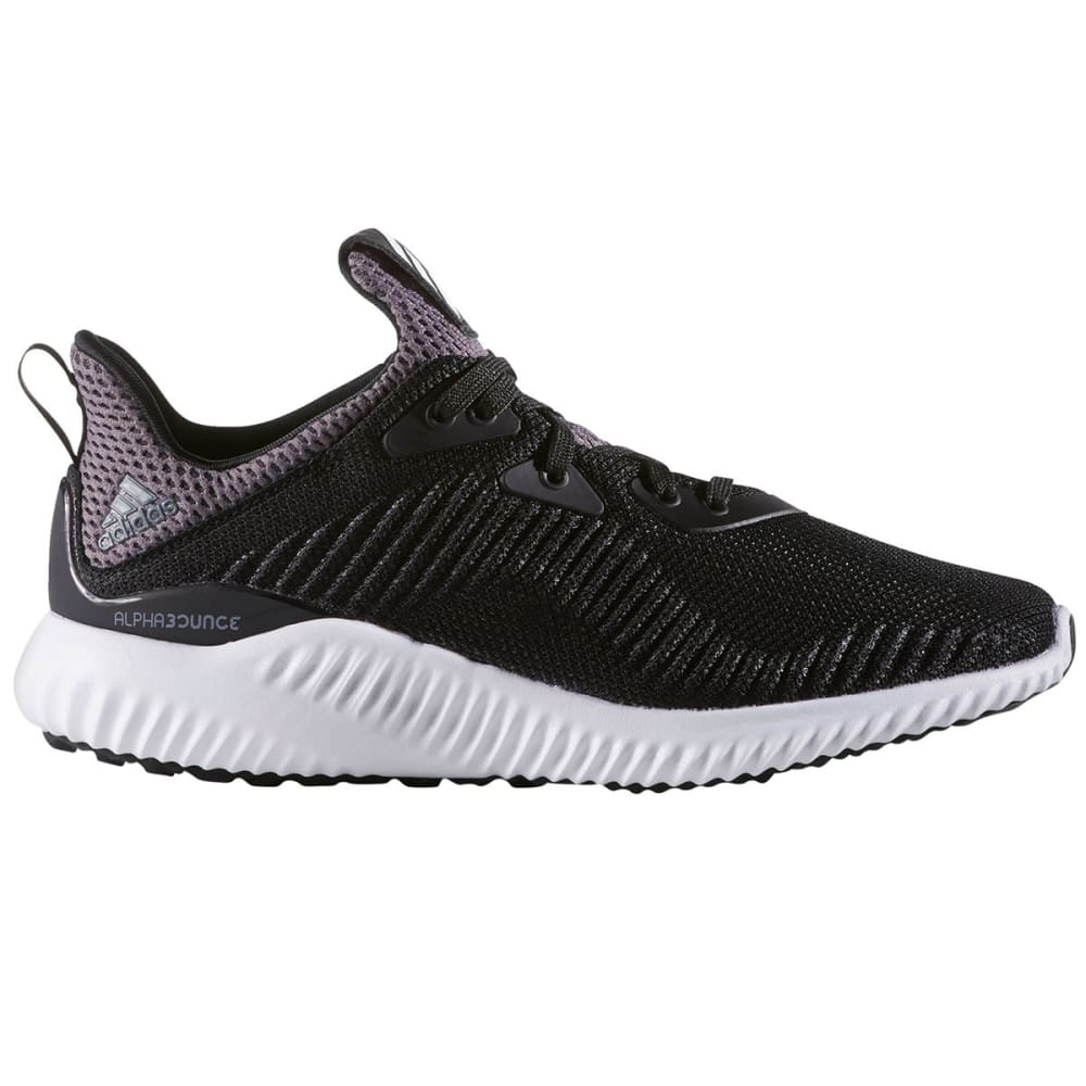 ADIDAS Boys' Alphabounce Running Shoes, Black/White - BLACK