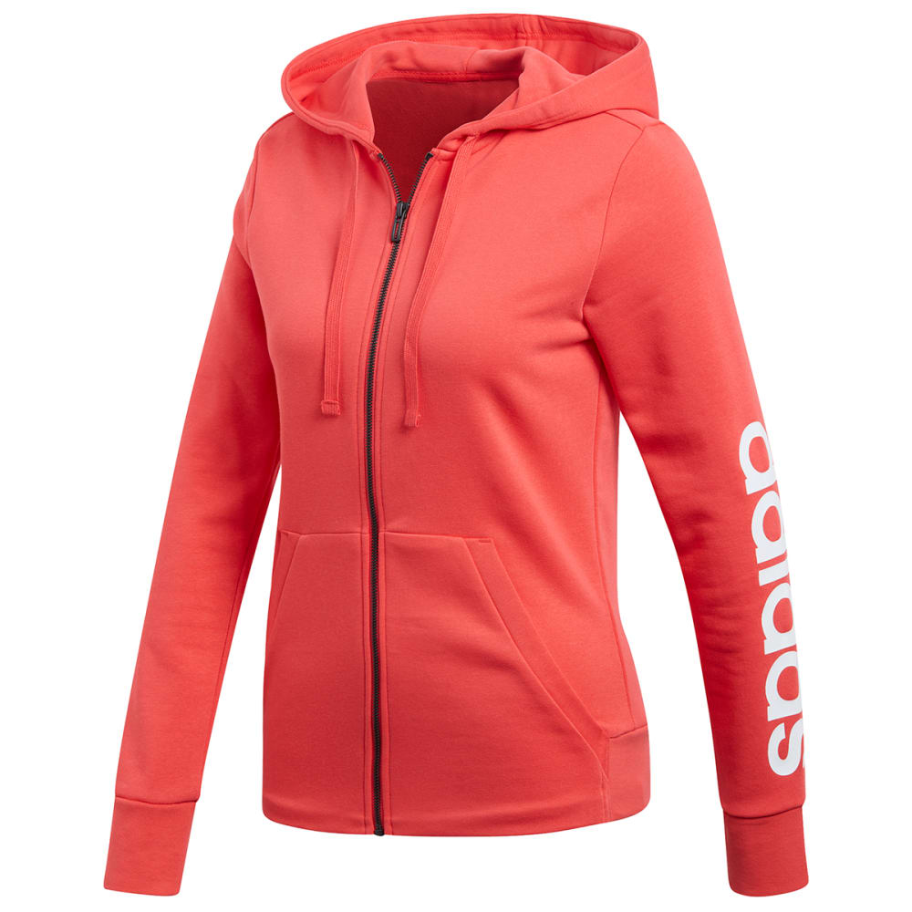 ADIDAS Women's Essentials Linear Full-Zip Hoodie S