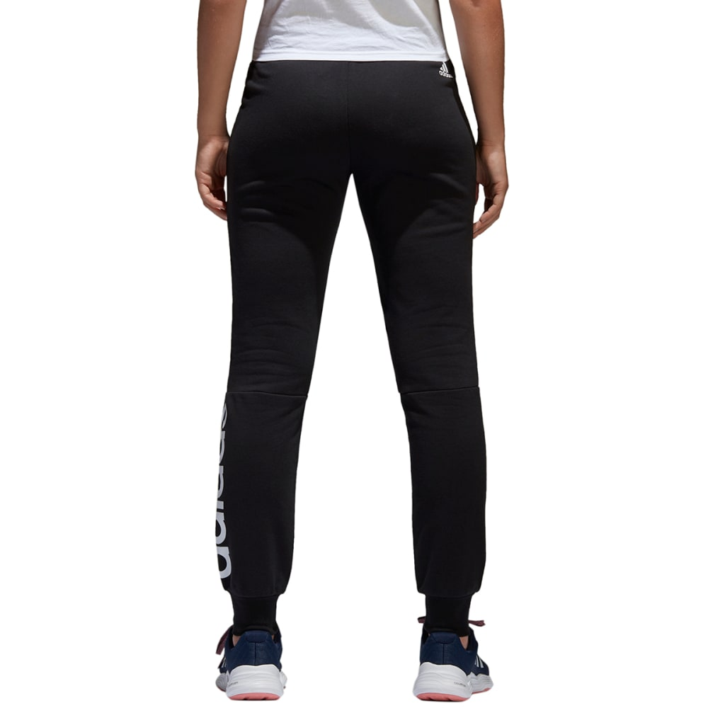 ADIDAS Women's Essentials Linear Pants - BLACK/WHITE-S97154