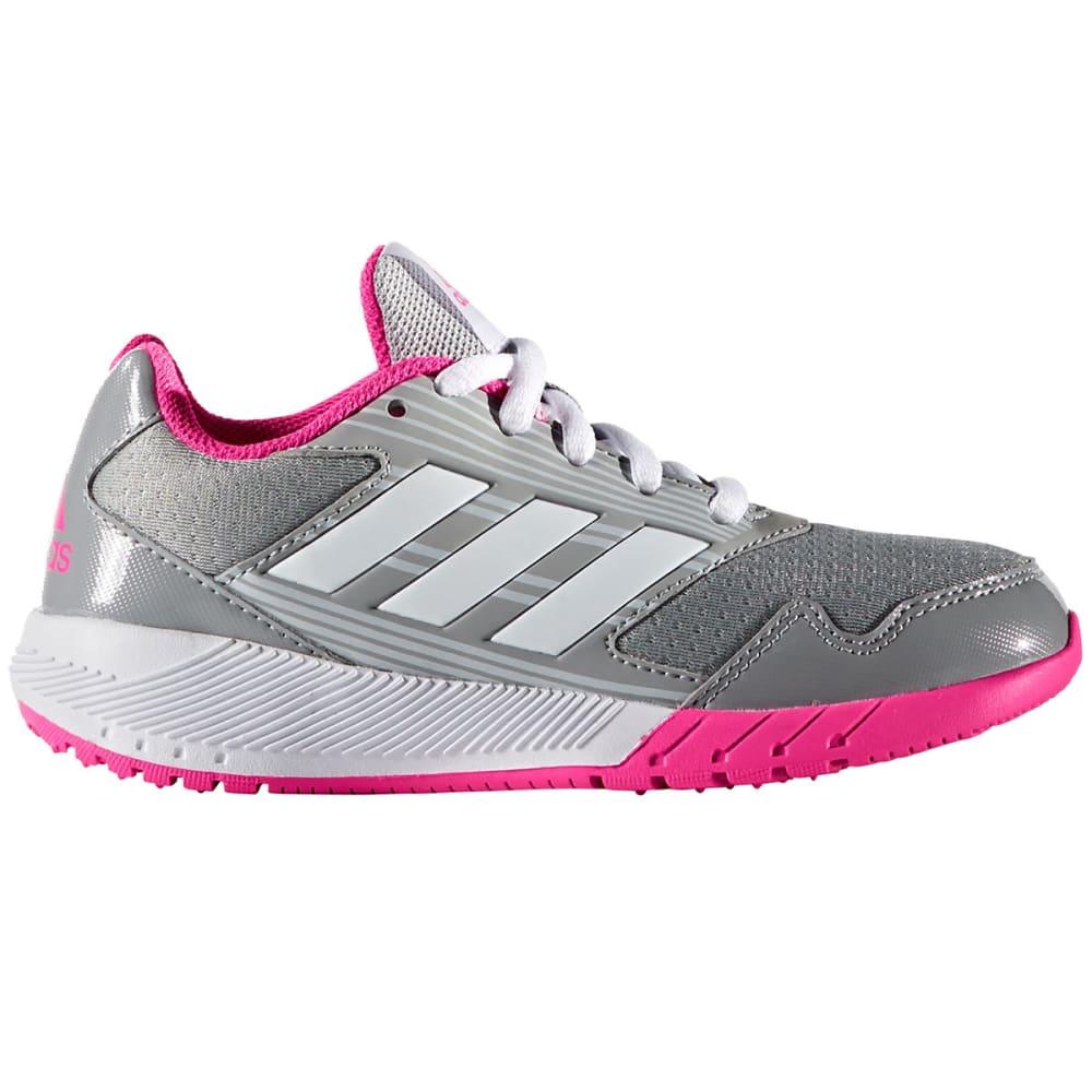 ADIDAS Girls' AltaRun K Running Shoes, Grey/White/Shock Pink - GREY