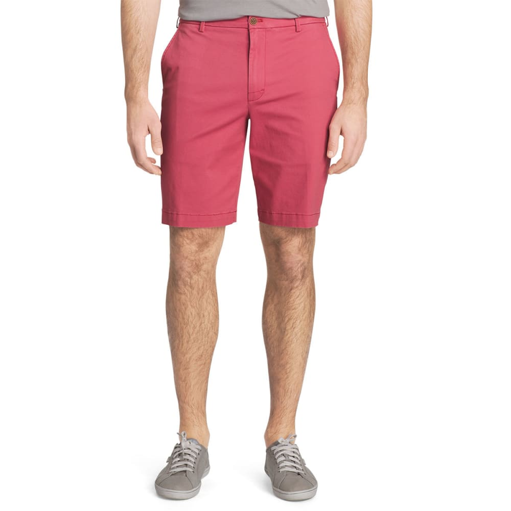 IZOD Men's Saltwater Stretch Chino Shorts - SALTWATER RED-648