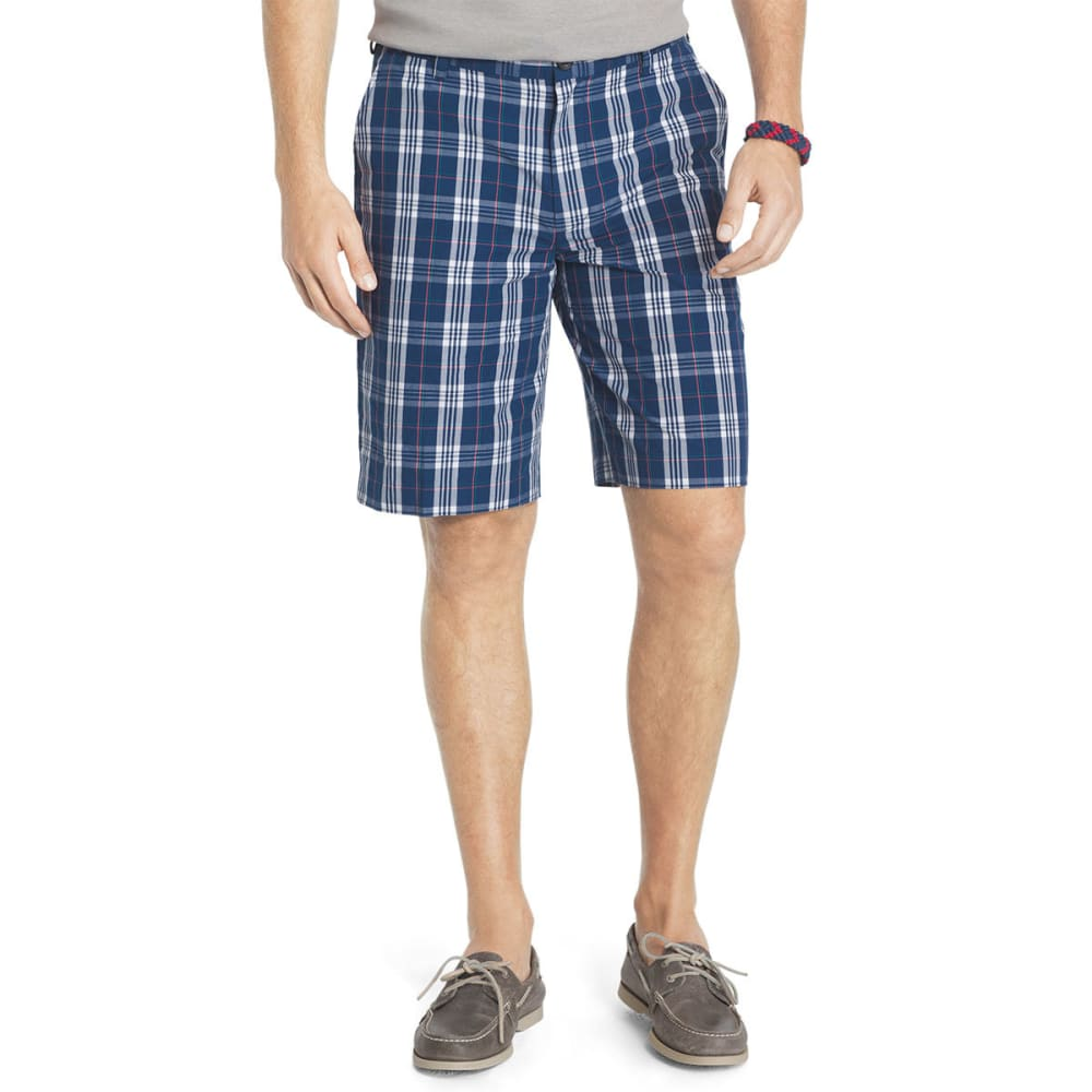 IZOD Men's Portsmith Plaid Shorts - ESTATE BLUE-435