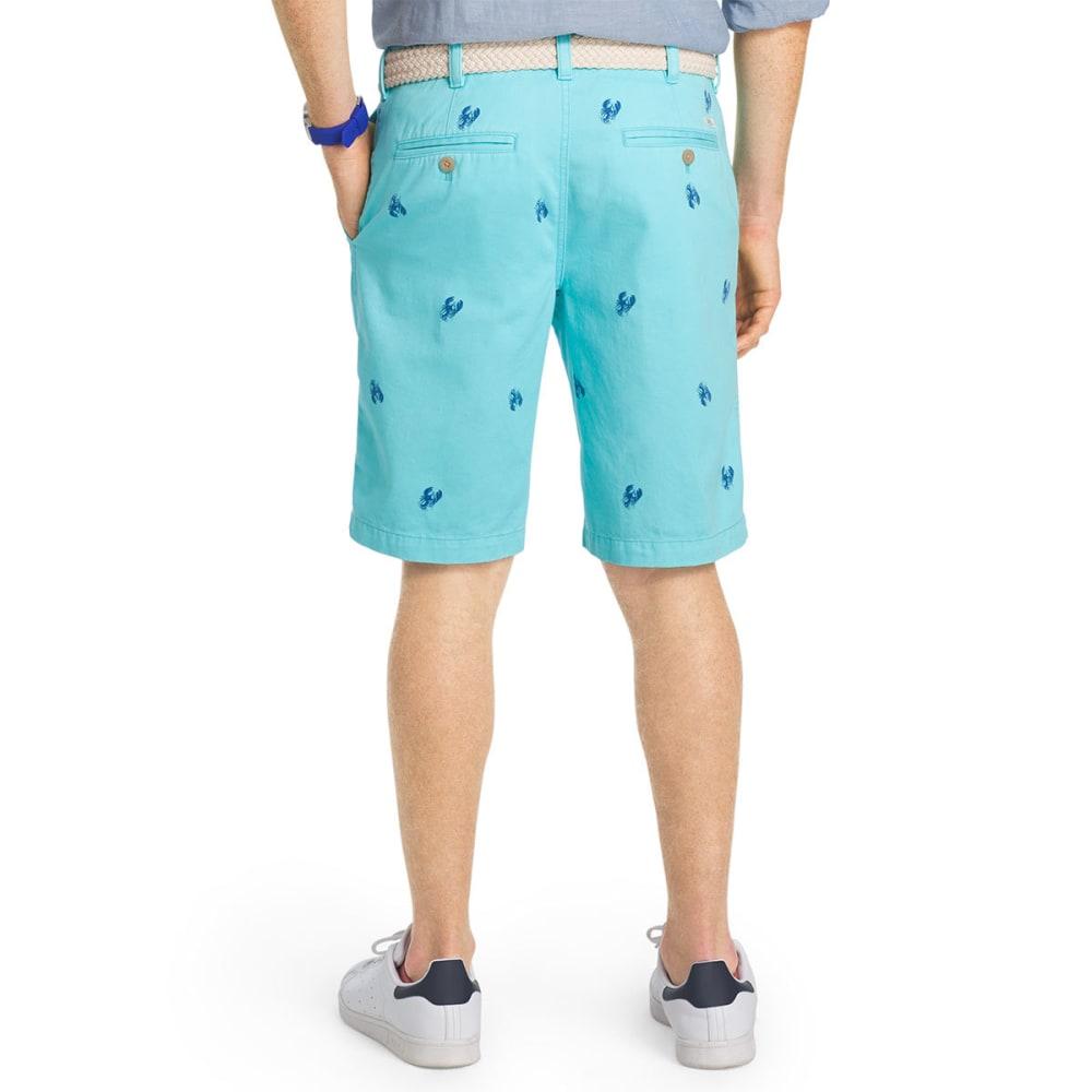 IZOD Men's Schiffli Lobster Flat-Front Shorts - BLUE RADIANCE-477