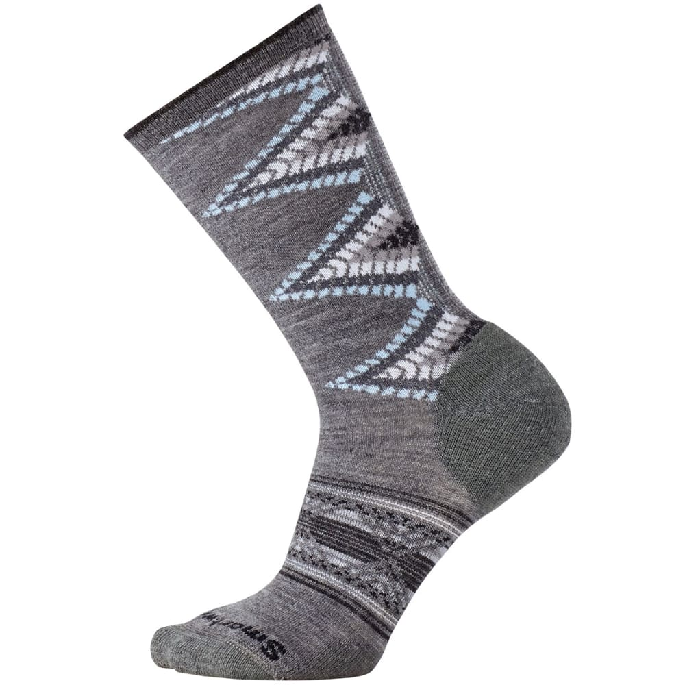 SMARTWOOL Women's Tiva Crew Socks - MEDIUM GRY HTHR-084