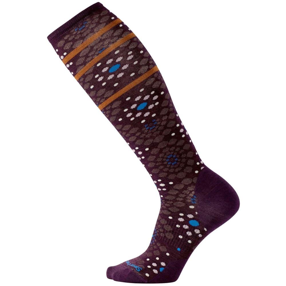 SMARTWOOL Women's Pompeii Pebble Knee-High Socks - BORDEAUX HEATHER