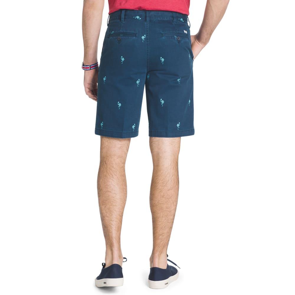 IZOD Men's Schiffli Flamingo Printed Shorts - CADET NVY-412