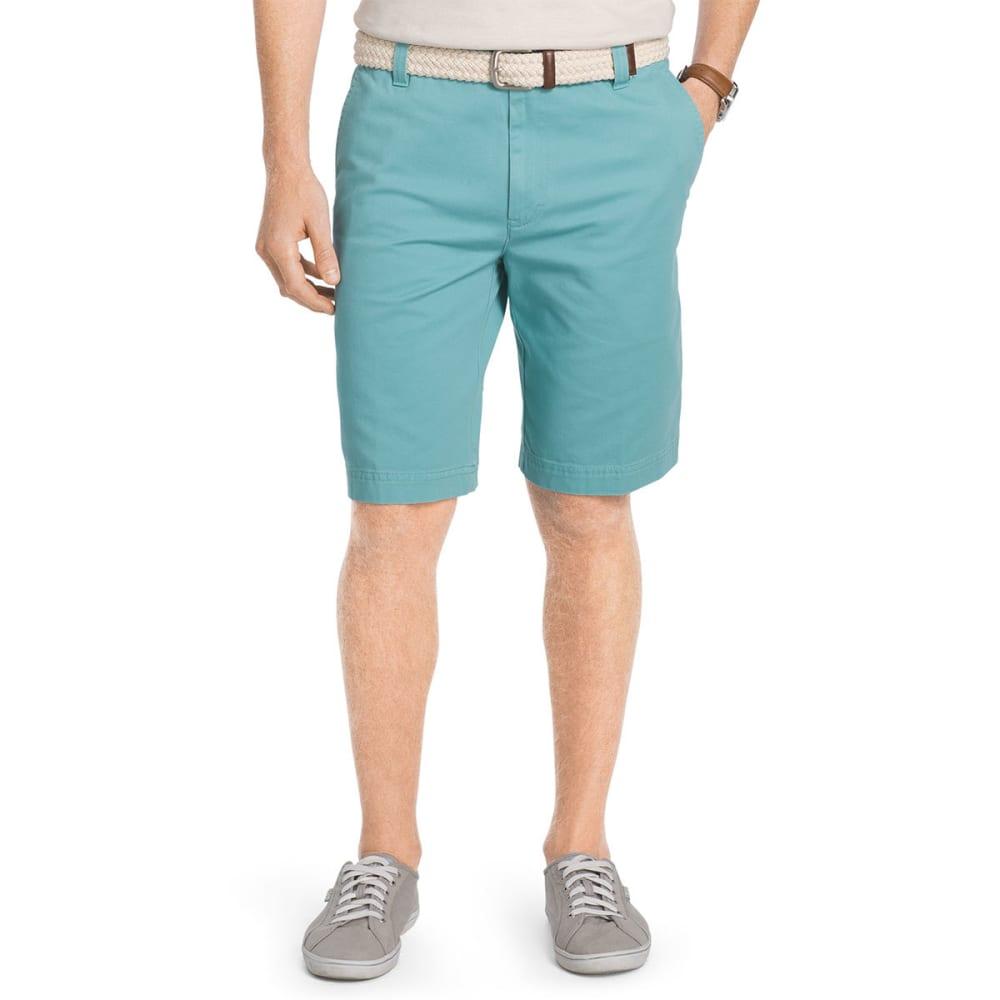 IZOD Men's Saltwater Washed Chino Flat-Front Shorts - PORCELAIN-483