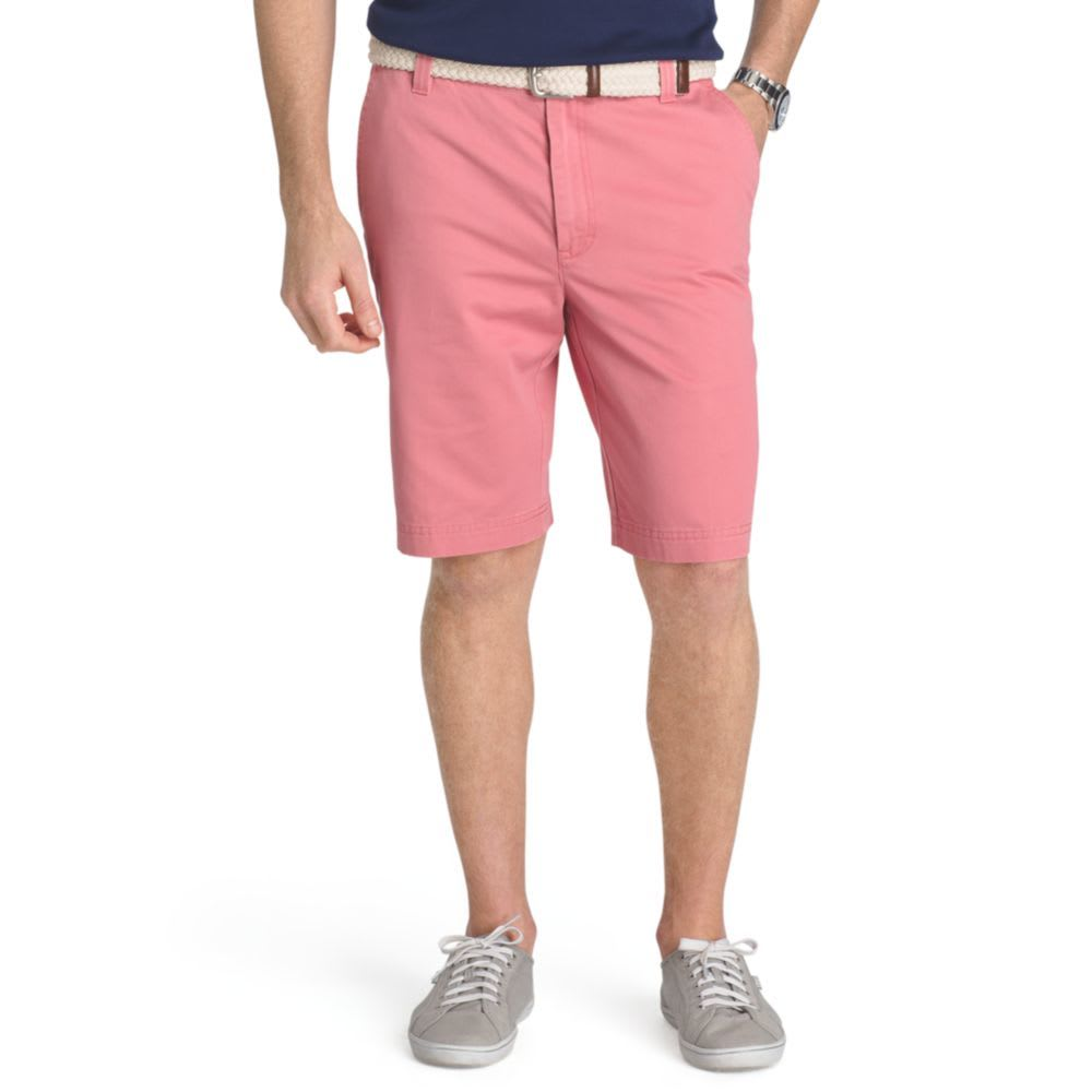 IZOD Men's Saltwater Washed Chino Flat-Front Shorts - SALMON-633