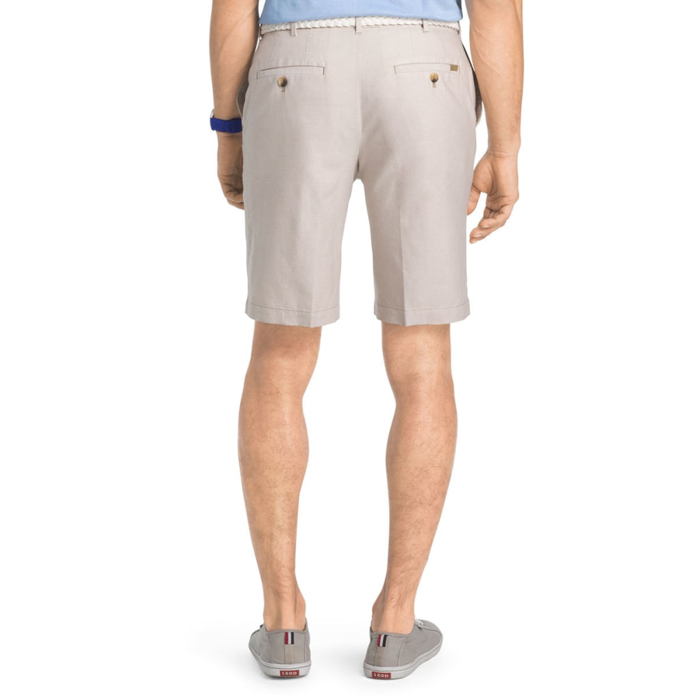 IZOD Men's Saltwater Oxford Flat-Front Shorts - CEDARWOOD KHA-261