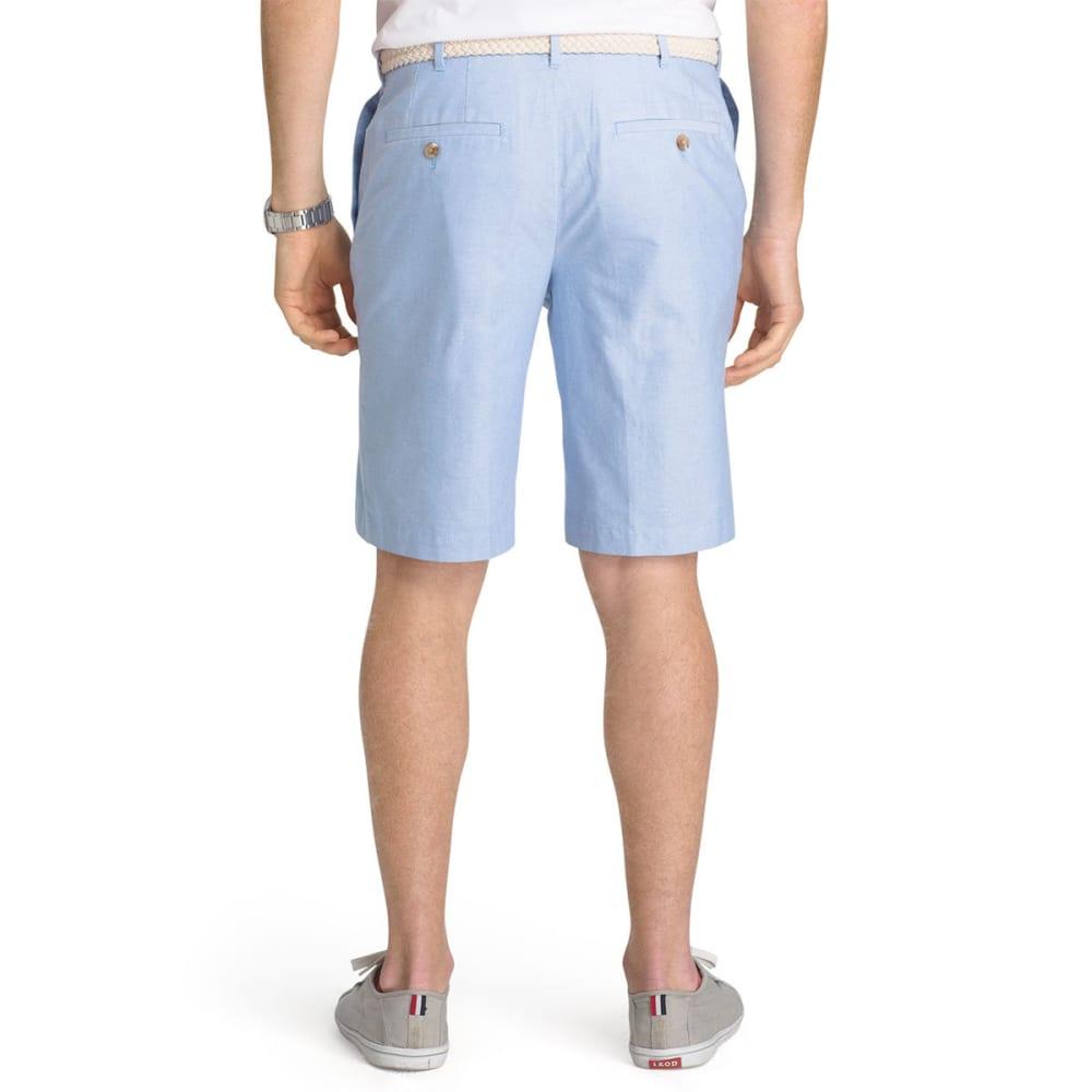 IZOD Men's Saltwater Oxford Flat-Front Shorts - BLUE REVIVAL-464