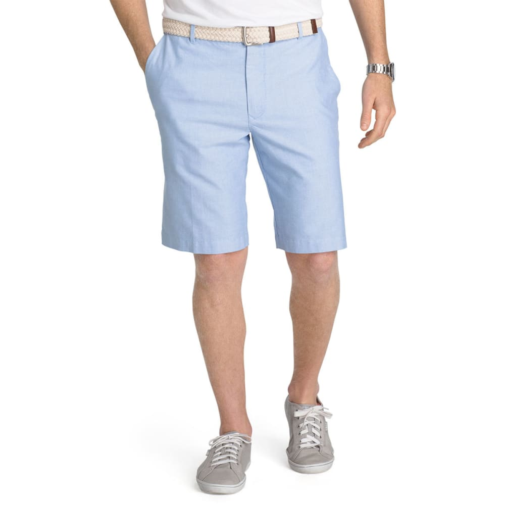 IZOD Men's Saltwater Oxford Flat-Front Shorts - BLUE REVIVAL-464
