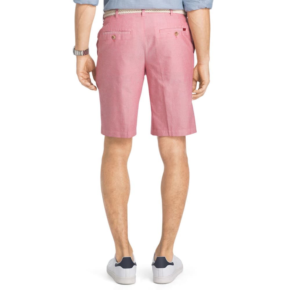 IZOD Men's Saltwater Oxford Flat-Front Shorts - REAL RED-625