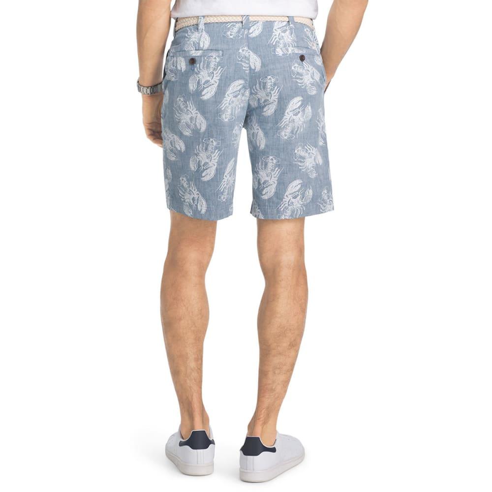IZOD Men's Schiffli Reverse Print Lobster Flat-Front Shorts - CADET NAVY-412
