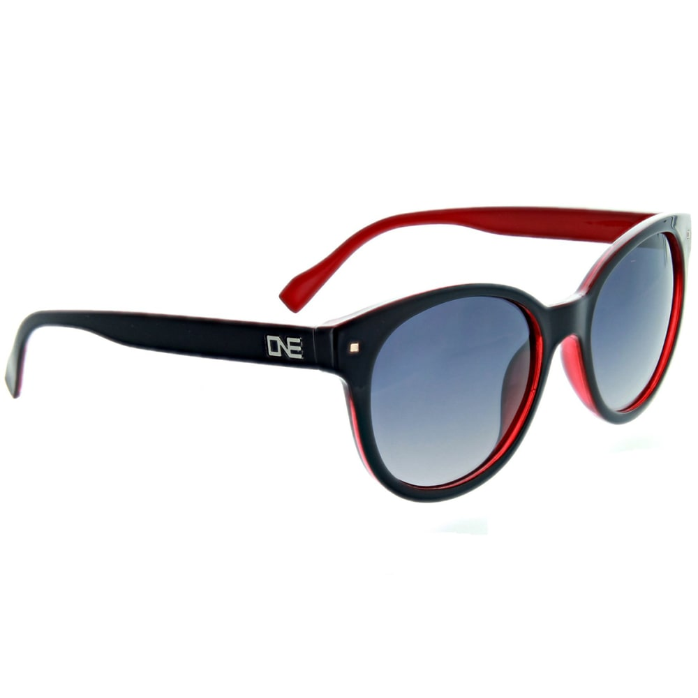 ONE BY OPTIC NERVE Women's Hotplate Polarized Sunglasses, Black/Red - BLACK/RED