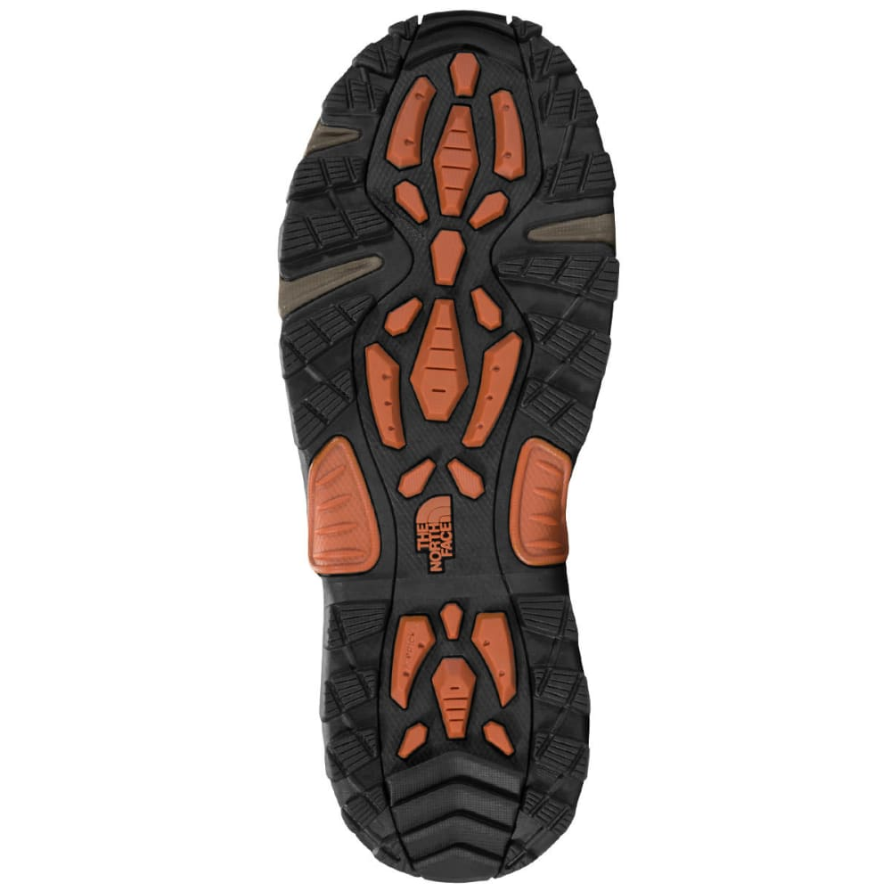 THE NORTH FACE Men's Chilkat III Lace-Up Mid Waterproof Winter Boots, Mudpack Brown/Bombay Orange - MUDPACK BRN/ORG-YVA