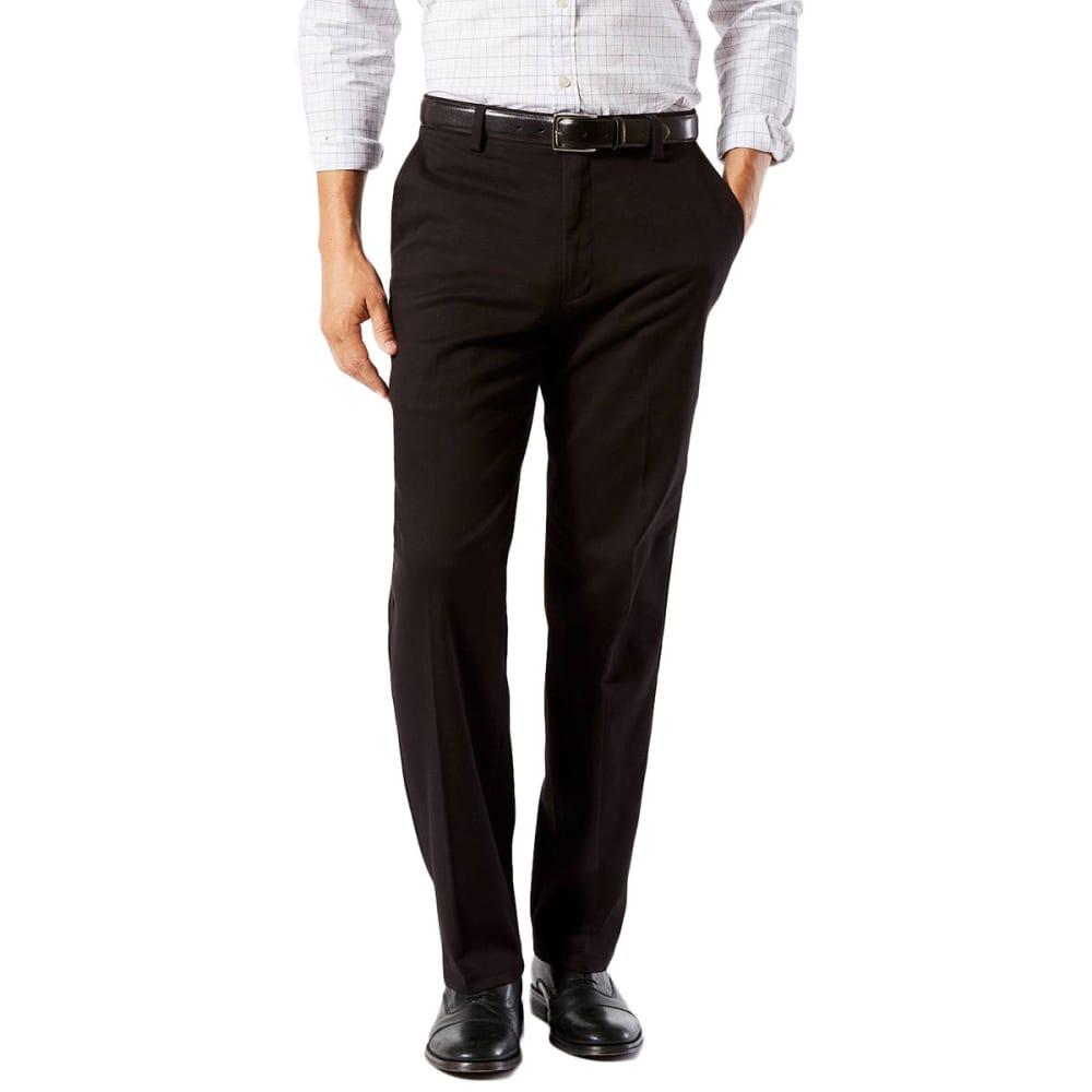 DOCKERS Men's Easy Khaki Classic Fit Stretch Flat-Front Pants - BLACK-0004