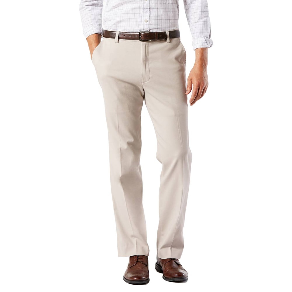 Dockers Men's Easy Khaki Classic Fit Stretch Flat-Front Pants - White, 30/30