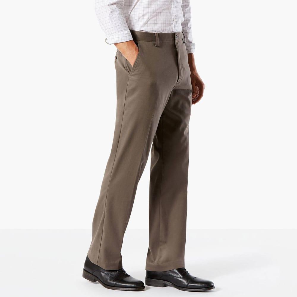 DOCKERS Men's Easy Khaki Classic Fit Stretch Flat-Front Pants - DK PEBBLE-0002