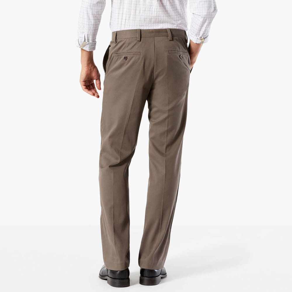 DOCKERS Men's Easy Khaki Classic Fit Stretch Flat-Front Pants - DK PEBBLE-0002