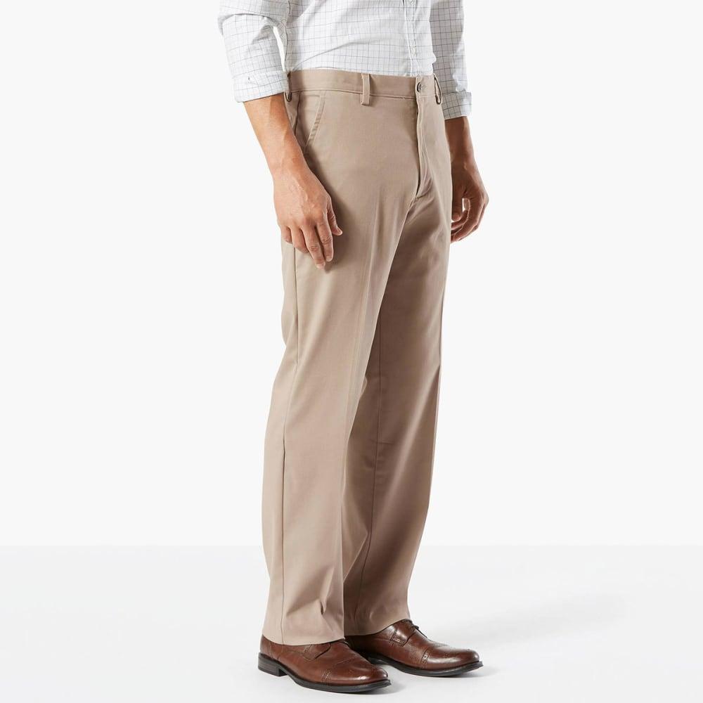 DOCKERS Men's Easy Khaki Classic Fit Stretch Flat-Front Pants - TIMBERWOLF-0001