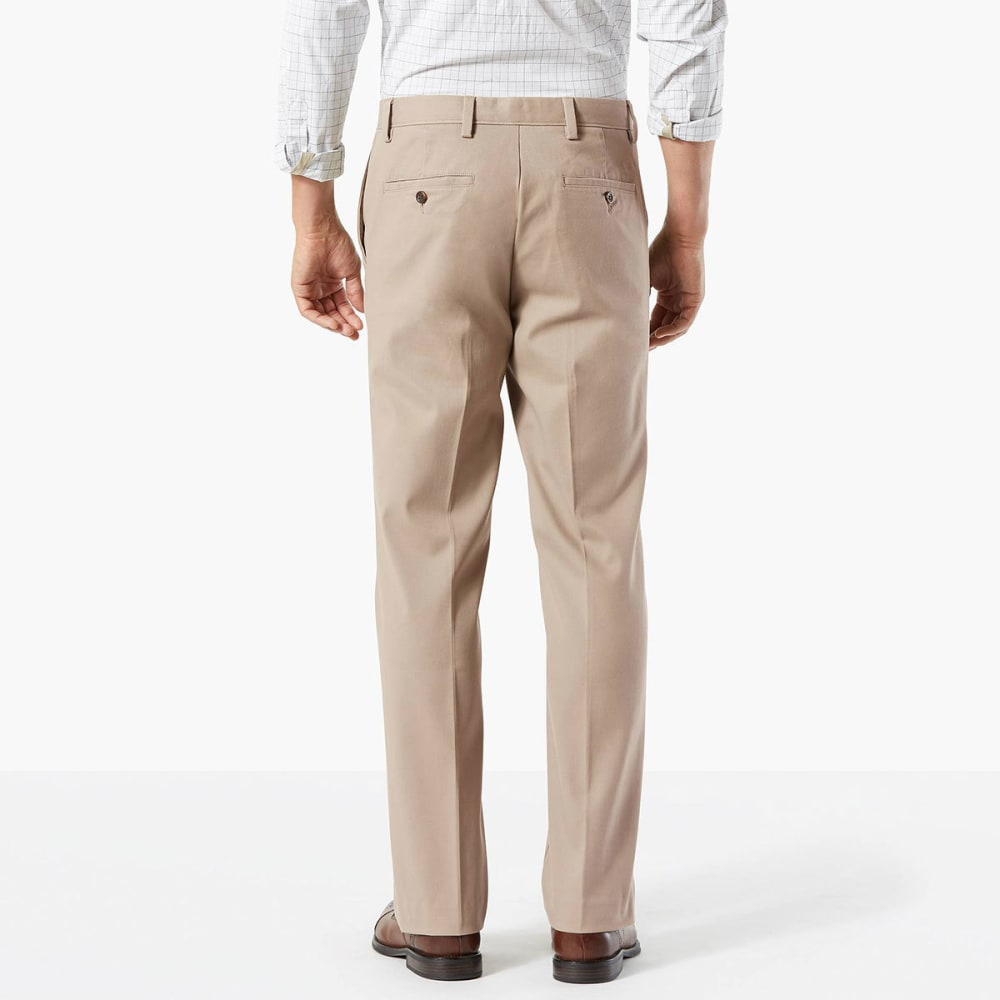 DOCKERS Men's Easy Khaki Classic Fit Stretch Flat-Front Pants - TIMBERWOLF-0001