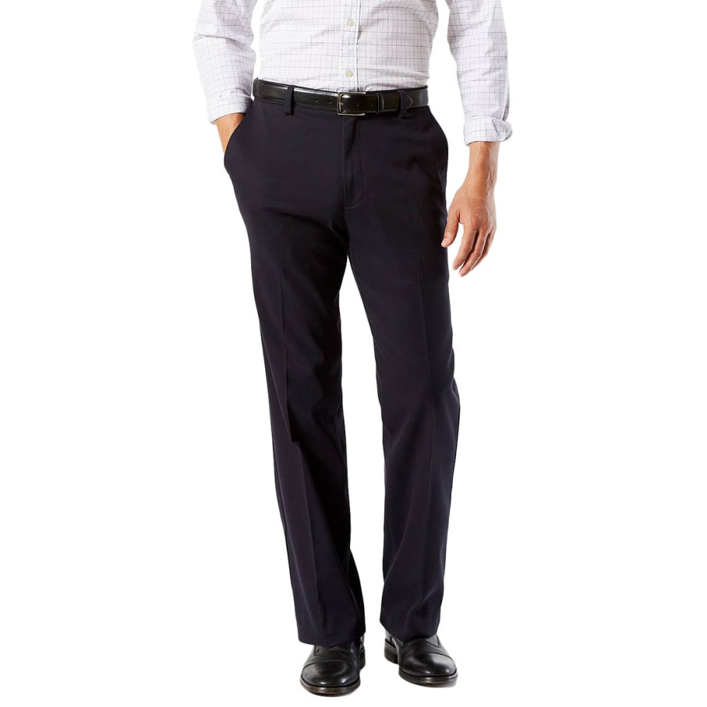 DOCKERS Men's Easy Khaki Classic Fit Stretch Flat-Front Pants - NAVY-0003