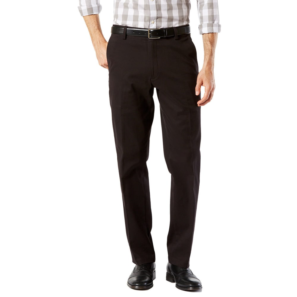 DOCKERS Men's Easy Khaki Straight Stretch Flat-Front Pants - BLACK 0006