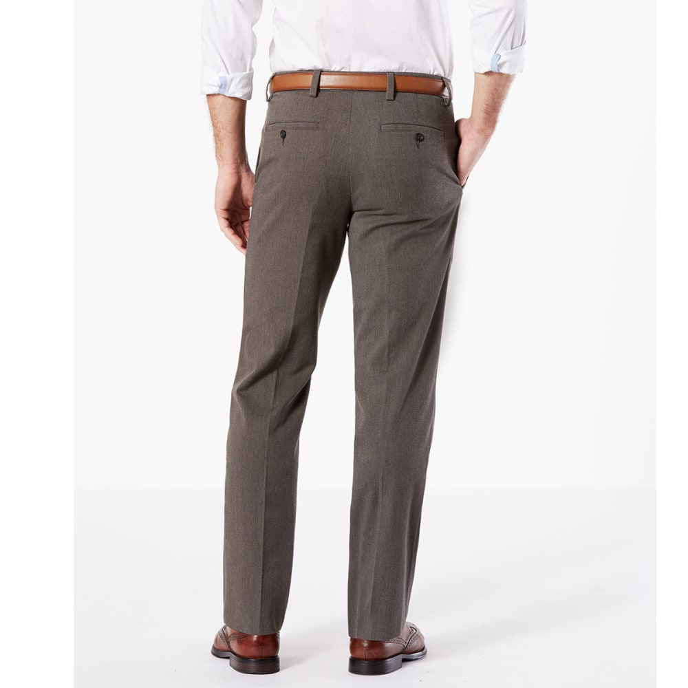 DOCKERS Men's Easy Khaki Straight Stretch Flat-Front Pants - STORM HTR-0008