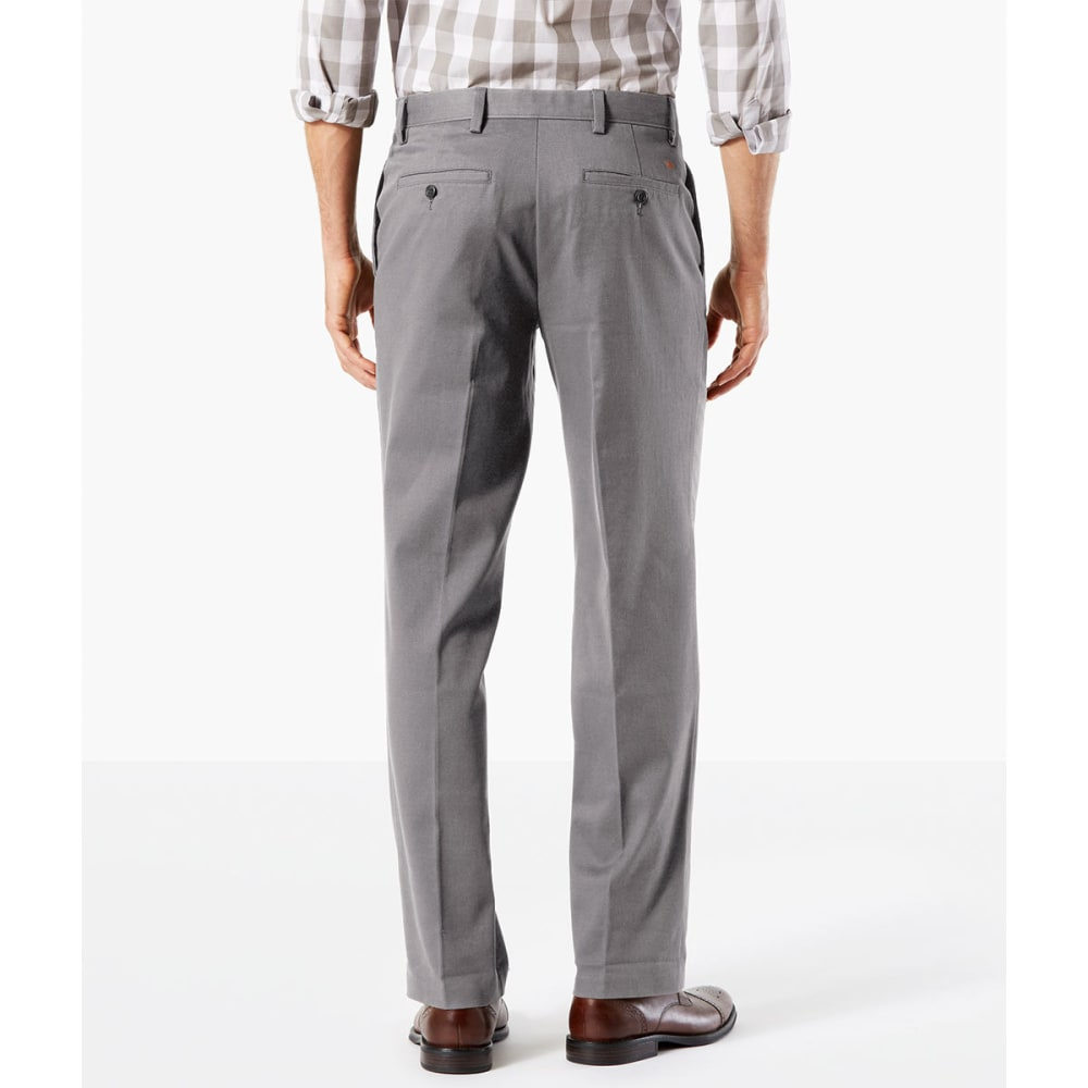 DOCKERS Men's Easy Khaki Straight Stretch Flat-Front Pants - BURMA GREY-0007 drop