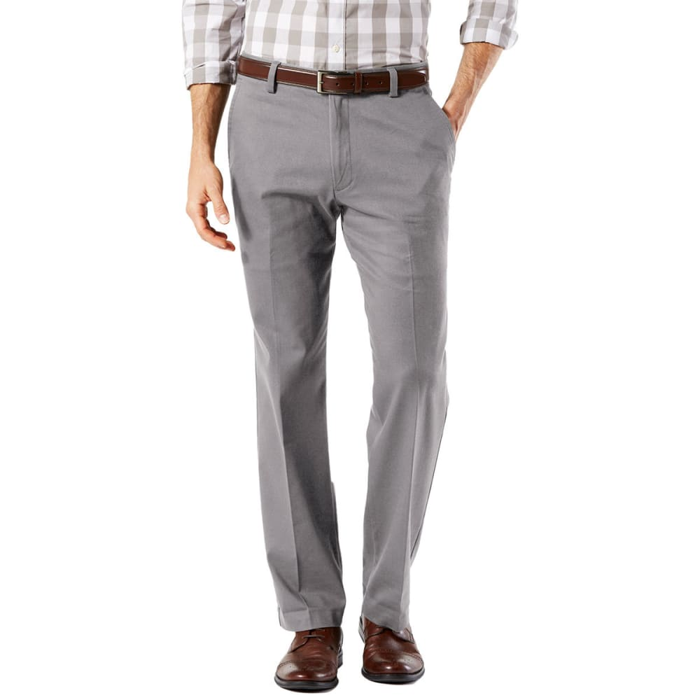 DOCKERS Men's Easy Khaki Straight Stretch Flat-Front Pants - BURMA GREY-0007 drop