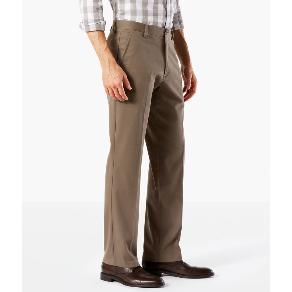 DOCKERS Men's Easy Khaki Straight Stretch Flat-Front Pants - DK PEBBLE-0002