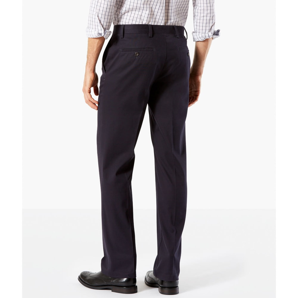 DOCKERS Men's Easy Khaki Straight Stretch Flat-Front Pants - DOCKERS NAVY-0004