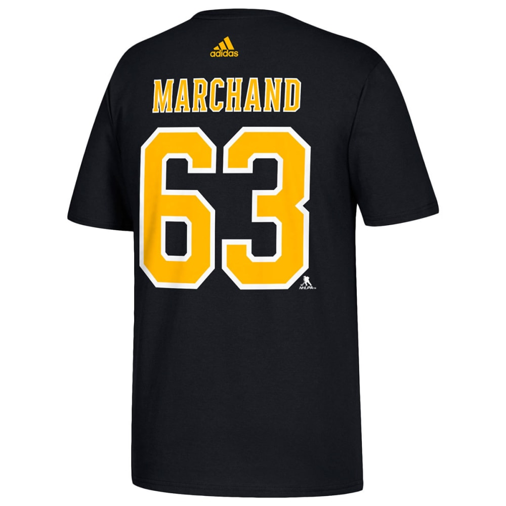 ADIDAS Men's Boston Bruins Marchand Name and Number Short-Sleeve Tee - BLACK