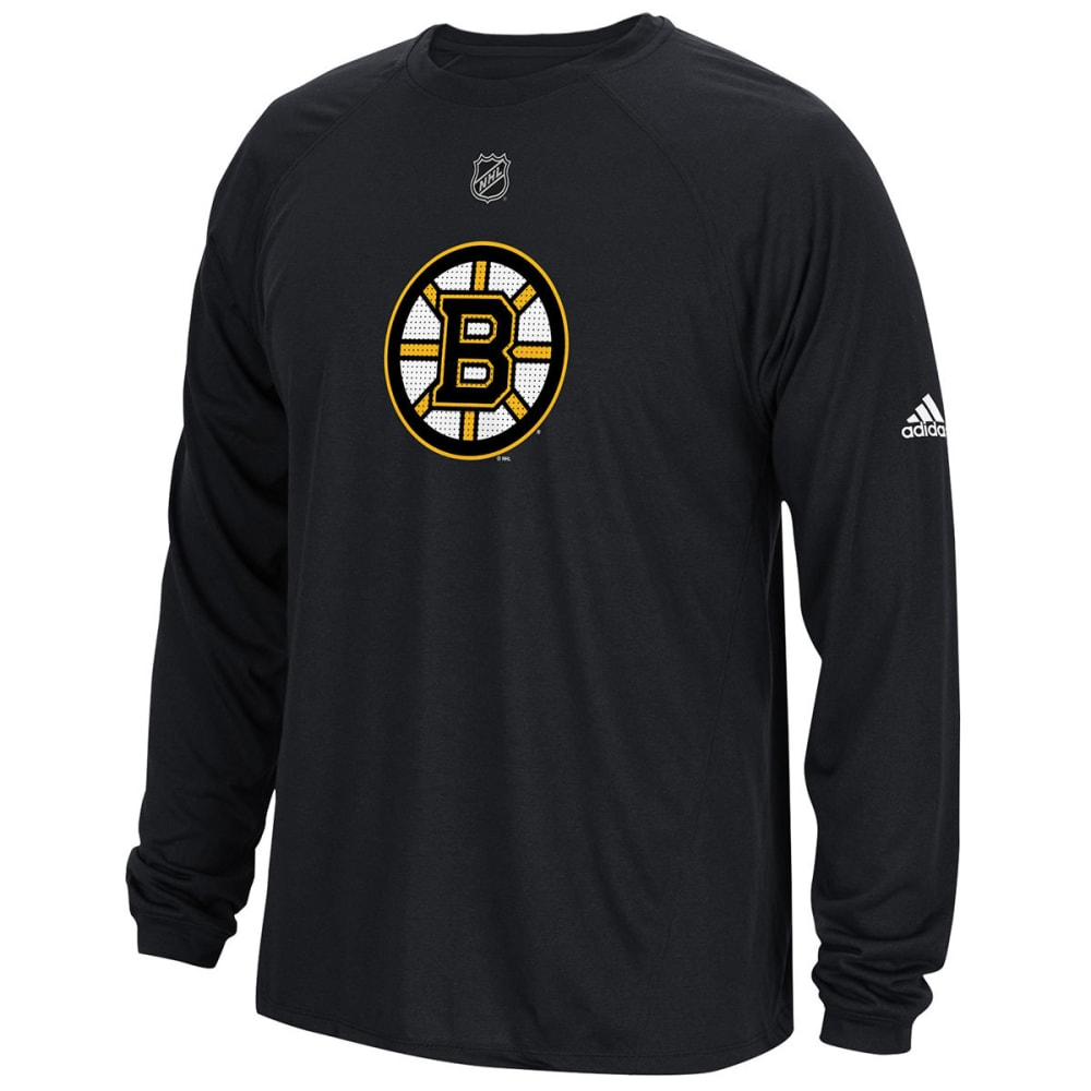 Adidas Men's Boston Bruins Primary Position Climalite Long-Sleeve Tee - Black, M