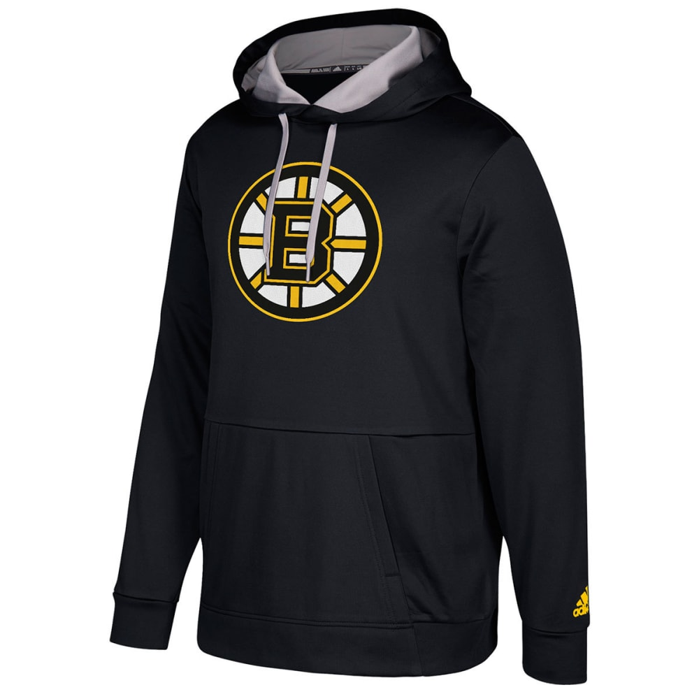ADIDAS Men's Boston Bruins Authentic Finished Pullover Hoodie - BLACK