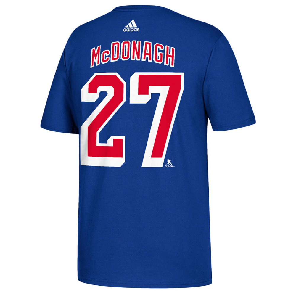 Adidas Men's New York Rangers Mcdonagh Name And Number Short-Sleeve Tee - Blue, M