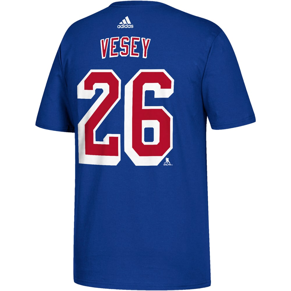 Adidas Men's New York Rangers Vesey Name And Number Short-Sleeve Tee - Blue, M